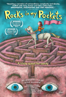 "Affiche du film ""Rocks in my pockets""."
