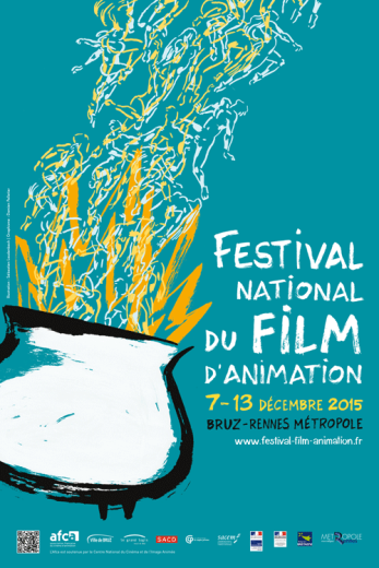 Affiche Festival national du film d'animation de Bruz